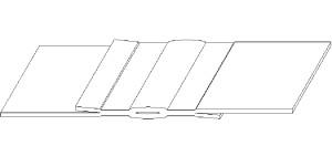 Двойной шов с центральным (контрольным) каналом