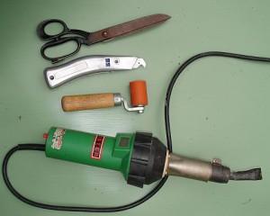 инструменты для склейки пленки